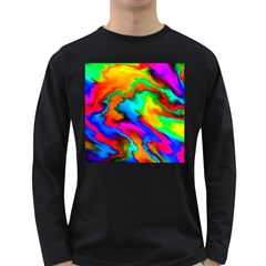 Crazy Effects  Mens' Long Sleeve T-shirt (Dark Colored)