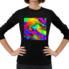 Crazy Effects  Womens' Long Sleeve T Shirt (dark Colored)