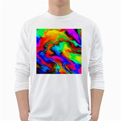 Crazy Effects  Mens' Long Sleeve T-shirt (White)