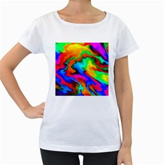Crazy Effects  Womens' Maternity T-shirt (White)