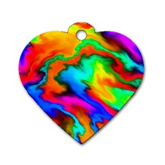 Crazy Effects  Dog Tag Heart (one Sided)