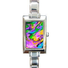 Crazy Effects  Rectangular Italian Charm Watch