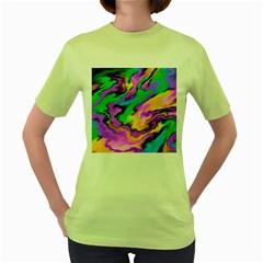 Crazy Effects  Womens  T-shirt (Green)