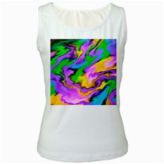 Crazy Effects  Womens  Tank Top (White)