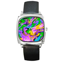 Crazy Effects  Square Leather Watch