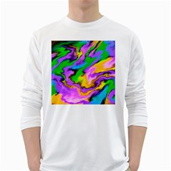 Crazy Effects  Mens' Long Sleeve T Shirt (white)