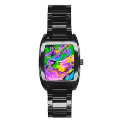 Crazy Effects  Stainless Steel Barrel Watch