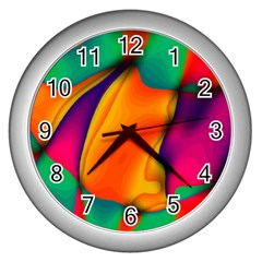 Crazy Effects  Wall Clock (Silver)