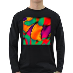 Crazy Effects  Mens' Long Sleeve T Shirt (dark Colored)