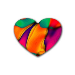 Crazy Effects  Drink Coasters 4 Pack (Heart)