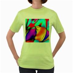 Crazy Effects Womens  T-shirt (Green)