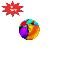 Crazy Effects 1  Mini Button Magnet (10 pack)