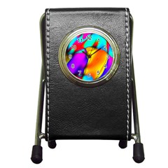 Crazy Effects Stationery Holder Clock