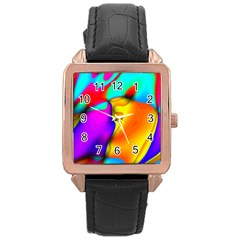 Crazy Effects Rose Gold Leather Watch