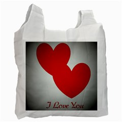 I Love You Recycle Bag (one Side)