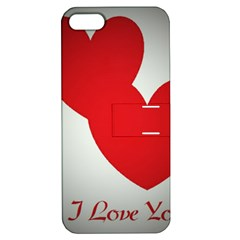 I Love You Apple iPhone 5 Hardshell Case with Stand
