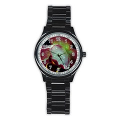 Macro Flower Sport Metal Watch (black)