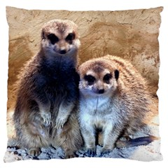 Meerkat Large Cushion Case (Two Sided)