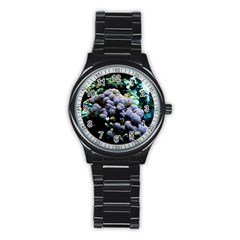 Aquarium Style Sport Metal Watch (Black)