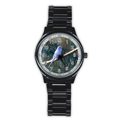 Blue Budgie Sport Metal Watch (Black)