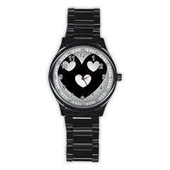 Lovely Heart Sport Metal Watch (black)