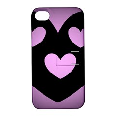 Lovely Heart Apple Iphone 4/4s Hardshell Case With Stand