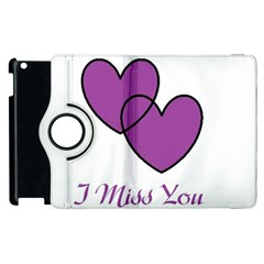 I Miss You Apple Ipad 3/4 Flip 360 Case