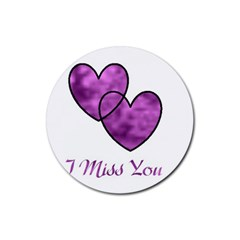I Miss You Drink Coaster (Round)