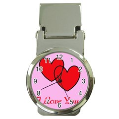 I Love You Money Clip With Watch