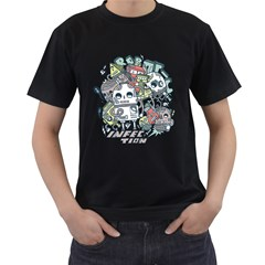 Robotic Infection Mens' Two Sided T-shirt (Black)