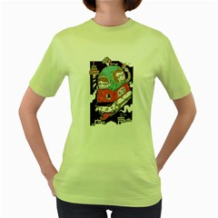 celebrate your birthday with me Womens  T-shirt (Green)