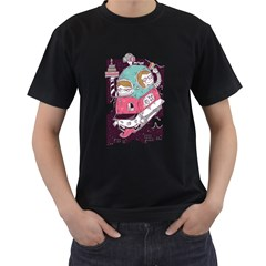 celebrate your birthday with me Mens' Two Sided T-shirt (Black)