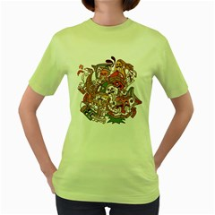 :p Womens  T-shirt (Green)