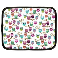 Happy Owls Netbook Sleeve (large)