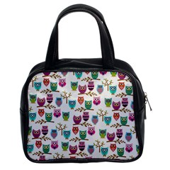 Happy Owls Classic Handbag (two Sides)