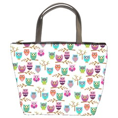 Happy Owls Bucket Handbag