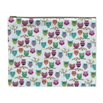 Happy Owls Cosmetic Bag (XL) Front