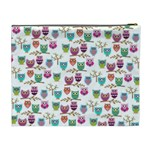 Happy Owls Cosmetic Bag (XL) Back