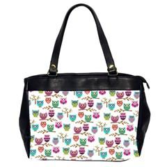 Happy Owls Oversize Office Handbag (Two Sides)
