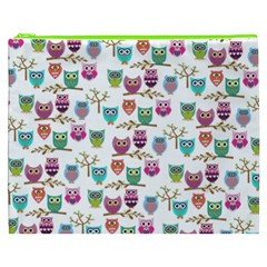 Happy Owls Cosmetic Bag (xxxl)