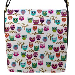Happy Owls Flap Closure Messenger Bag (Small)