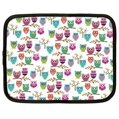 Happy Owls Netbook Sleeve (XXL)