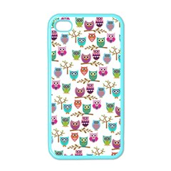 Happy Owls Apple Iphone 4 Case (color)
