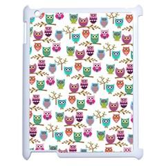Happy Owls Apple iPad 2 Case (White)