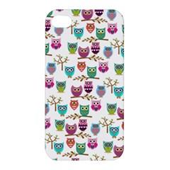 Happy Owls Apple iPhone 4/4S Premium Hardshell Case