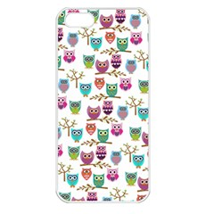 Happy Owls Apple iPhone 5 Seamless Case (White)