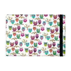 Happy Owls Apple Ipad Mini Flip Case