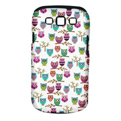 Happy Owls Samsung Galaxy S III Classic Hardshell Case (PC+Silicone)