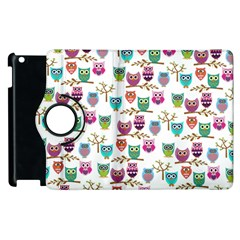 Happy Owls Apple iPad 3/4 Flip 360 Case