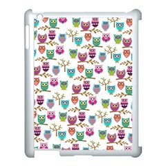 Happy Owls Apple iPad 3/4 Case (White)